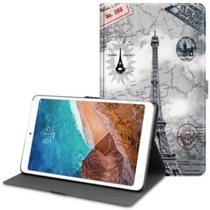 Eiffel Tower Pattern Cowhide Texture TPU Horizontal Flip Leather Case for Xiaomi Mi Pad 4 Plus, with Holder & Sleep / Wake-up Function