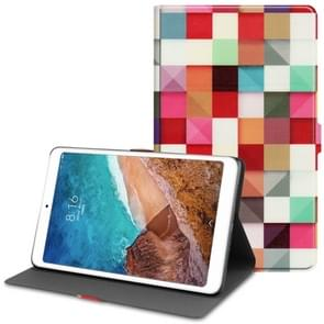 Magic Cube Pattern Cowhide Texture TPU Horizontal Flip Leather Case for Xiaomi Mi Pad 4 Plus, with Holder & Sleep / Wake-up Function