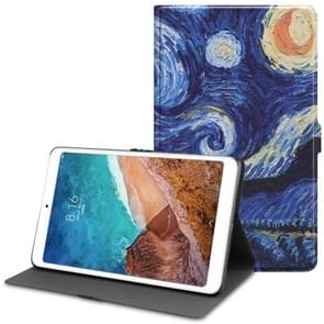 Starry Sky Pattern Cowhide Texture TPU Horizontal Flip Leather Case for Xiaomi Mi Pad 4 Plus, with Holder & Sleep / Wake-up Function
