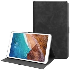 Solid Color Cowhide Texture TPU Horizontal Flip Leather Case for Xiaomi Mi Pad 4 Plus, with Holder & Sleep / Wake-up Function(Black)