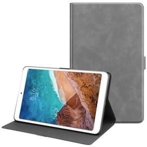 Solid Color Cowhide Texture TPU Horizontal Flip Leather Case for Xiaomi Mi Pad 4 Plus, with Holder & Sleep / Wake-up Function(Grey)