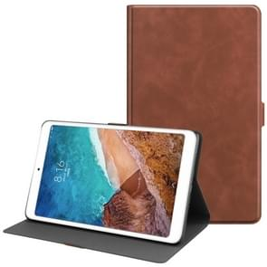Solid Color Cowhide Texture TPU Horizontal Flip Leather Case for Xiaomi Mi Pad 4 Plus, with Holder & Sleep / Wake-up Function(Brown)