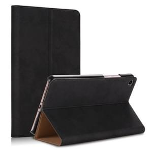 Solid Color Wood Texture PC Horizontal Flip Leather Case for Xiaomi Mi Pad 4 Plus, with Holder & Sleep / Wake-up Function(Black)
