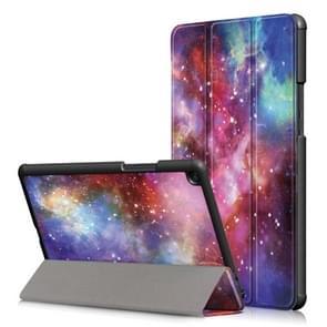 Galaxy patroon Custer textuur horizontaal flip PC leergeval voor Xiaomi Mi Pad 4 Plus  met drie-vouwen houder & slaap / Wake-up functie