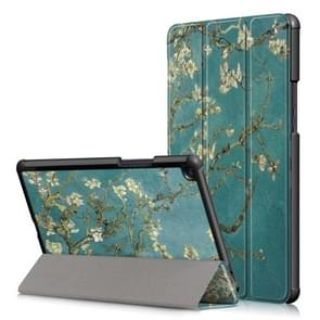Prunus Pattern Custer Texture Horizontal Flip PC Leather Case for Xiaomi Mi Pad 4 Plus, with Three-folding Holder & Sleep / Wake-up Function