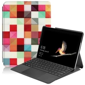 Magic Cube Pattern Colored Painted Horizontal Flip PU Leather Case for Microsoft Surface Go 10 inch, with Holder & Pen Slot