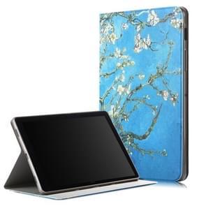 Abrikoos patroon gekleurde tekening horizontale Flip lederen case voor Galaxy tab S5e T720/T725  met houder/Wake-up functie