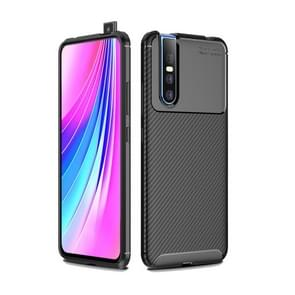 Beetle Series Carbon Fiber Texture Shockproof TPU Case for VIVO V15 Pro(Black)