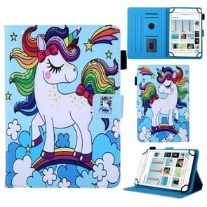 Universal Rainbow Unicorn Pattern Horizontal Flip Leather Case for 8 inch Tablet PC, with Holder & Card Slot & Wallet