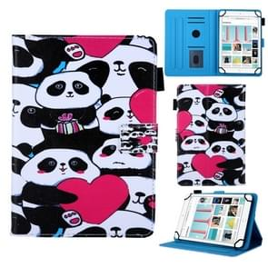 Universal  Pandas Pattern Horizontal Flip Leather Case for 8 inch Tablet PC, with Holder & Card Slot & Wallet