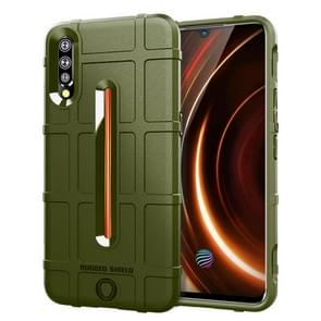 Shockproof Rugged  Shield Full Coverage Protective Silicone Case for VIVO IQOO(Army Green)