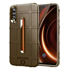Shockproof Rugged  Shield Full Coverage Protective Silicone Case for VIVO IQOO(Brown)