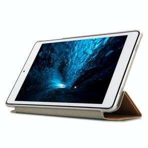 Frosted Texture Horizontal Flip PU Leather Protective Case for Teclast P80 Pro,  with Three-folding Holder (Gold)