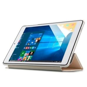 Frosted Texture Horizontal Flip PU Leather Protective Case for Teclast P80 Pro,  with Three-folding Holder (White)