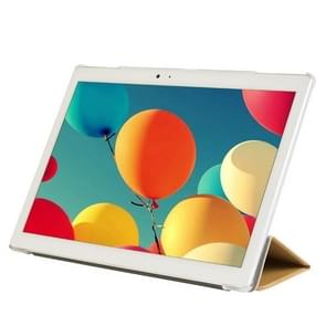 Frosted Texture Horizontal Flip PU Leather Protective Case for Teclast T10,  with Three-folding Holder (Gold)