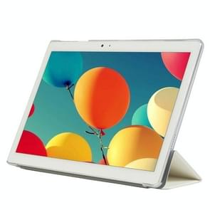Frosted Texture Horizontal Flip PU Leather Protective Case for Teclast T10,  with Three-folding Holder (White)