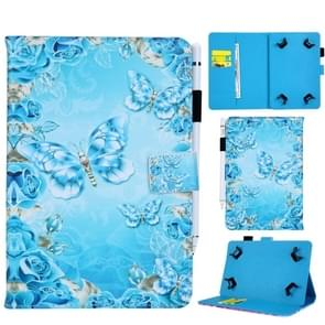 Universal Crystal Butterfly  Pattern Horizontal Flip Leather Case for 8 inch Tablet PC, with Holder & Card Slot & Wallet