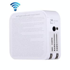 Intelligent Audio and Visual Mobile WiFi Router with Camera, US Plug