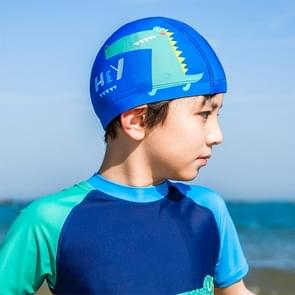 Original Xiaomi Children Printing Anti-sunburn Swimming Cap (Blue)