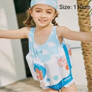 SABOLAY Girl Buoyant Conjoined Vest Bathing Suit Life Jacket, Size: 110