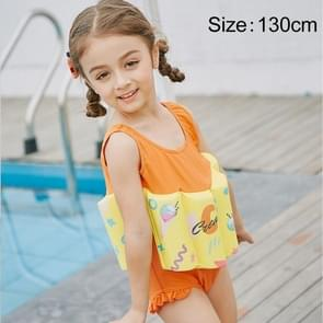 SABOLAY Girl Buoyant Conjoined Vest Bathing Suit Life Jacket, Size: 130