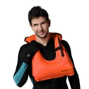 Volwassen draagbare drijfvermogen opblaasbare Vest zwemvest zwemmen snorkeluitrusting  grootte: 650 * 450mm (oranje)
