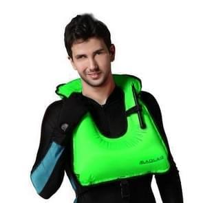 Volwassen draagbare drijfvermogen opblaasbare Vest zwemvest zwemmen snorkeluitrusting  grootte: 650 * 450mm (groen)
