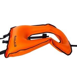 Kinderen draagbare snorkelen drijfvermogen opblaasbare Vest zwemvest zwemmen apparatuur  grootte: 510 * 400mm (oranje)