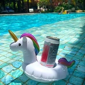 Inflatable Unicorn Shaped Floating Drink Holder, Inflated Size: About 23 x 21 x 22cm
