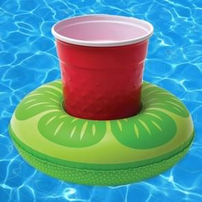 Inflatable Lemon Shaped Floating Drink Holder, Inflated Size: About 19 x 19cm
