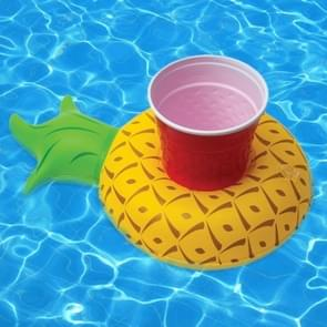 Inflatable Pineapple Shaped Floating Drink Holder, Inflated Size: About 25 x 19cm