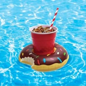 Inflatable Doughnut Shaped Floating Drink Holder, Inflated Size: About 19 x 19cm, Random Color Delivery