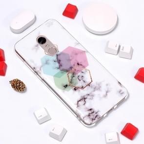 Marble Pattern TPU Soft Protective Case For Xiaomi Redmi 5 Plus(Hexagon)