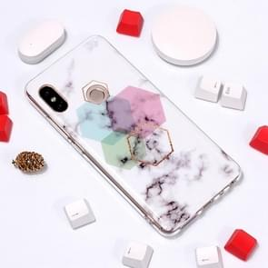 Marble Pattern TPU Soft Protective Case For Xiaomi Redmi Note 5 Pro(Hexagon)