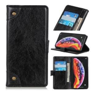 Koperen gesp Nappa textuur horizontale Flip lederen Case voor de Xiaomi Mi 9  met houder & kaartsleuven & portemonnee (zwart)