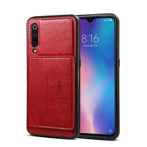 Dibase Crazy Horse Texture PU Leather Case for Xiaomi Mi 9, with Holder & Card Slot (Red)
