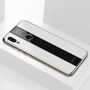 Electroplated Mirror Glass Case for Xiaomi Redmi Note 7(White)