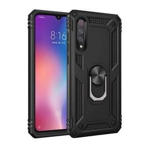 Sergeant Armor Shockproof TPU + PC Protective Case for Xiaomi Mi 9, with 360 Degree Rotation Holder (Black)