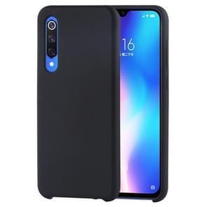 Solid Color Liquid Silicone Shockproof Case for Xiaomi Mi 9 SE (Black)