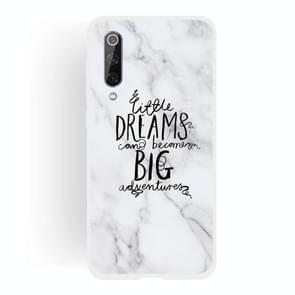 Dream Text Matte Semi-transparent TPU Marble Phone Case for Xiaomi Mi 9SE