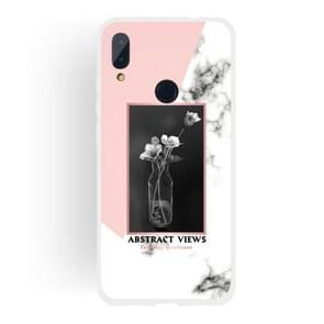 Vase Pattern Matte Semi-transparent TPU Marble Phone Case for Xiaomi Redmi Note 7