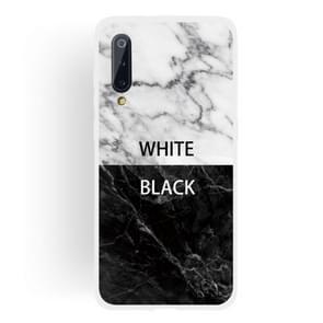 Black and White Text Matte Semi-transparent TPU Marble Mobile Phone Case for Xiaomi Mi 9