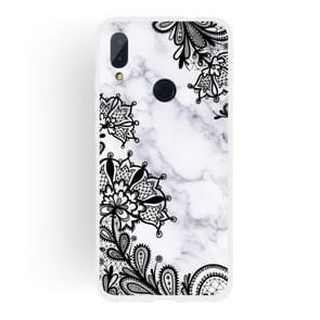 Lace Flower  Matte Semi-transparent TPU Marble Mobile Phone Case for Xiaomi Redmi Note 7