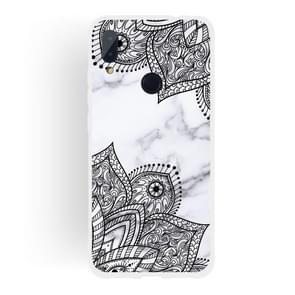 Diagonal Lace Matte Semi-transparent TPU Marble Phone Case for Xiaomi Redmi Note 7