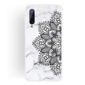 Half Flower Frosted Matte Semi-transparent TPU Marble Phone Case for Xiaomi Mi 9