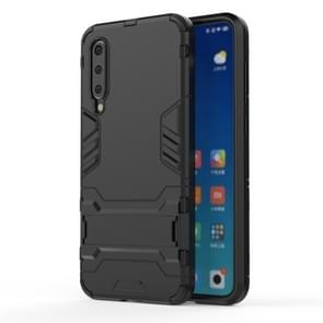 Shockproof PC + TPU Case for Xiaomi Mi 9 SE, with Holder (Black)