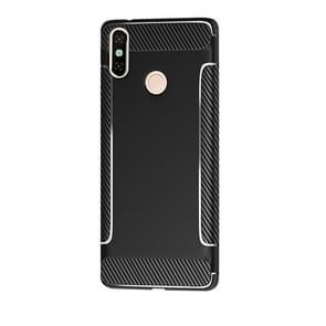 Carbon Fiber Anti-slip TPU Protective Case for Xiaomi Redmi Note 7 (Black)