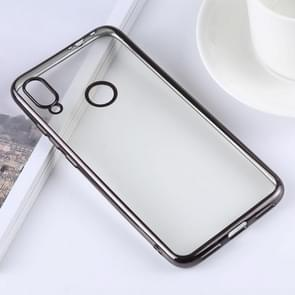 Ultra-thin Electroplating Soft TPU Protective Back Cover Case for Xiaomi Redmi Note 7 (Black)