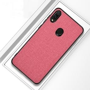Shockproof Cloth Texture PC+ TPU Protective Case for Xiaomi Redmi Note 7 (Pink)