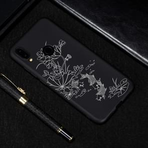 Lotus Pond Painted Pattern Soft TPU Case for Xiaomi Redmi Note 7